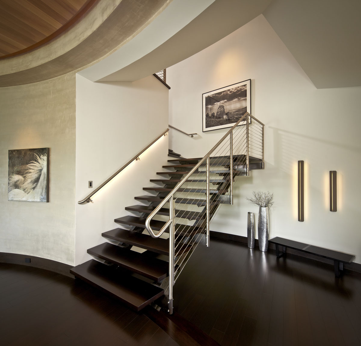 lakefront modern staircase