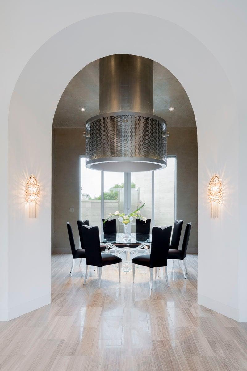 custom lake pointe contemporary dining room