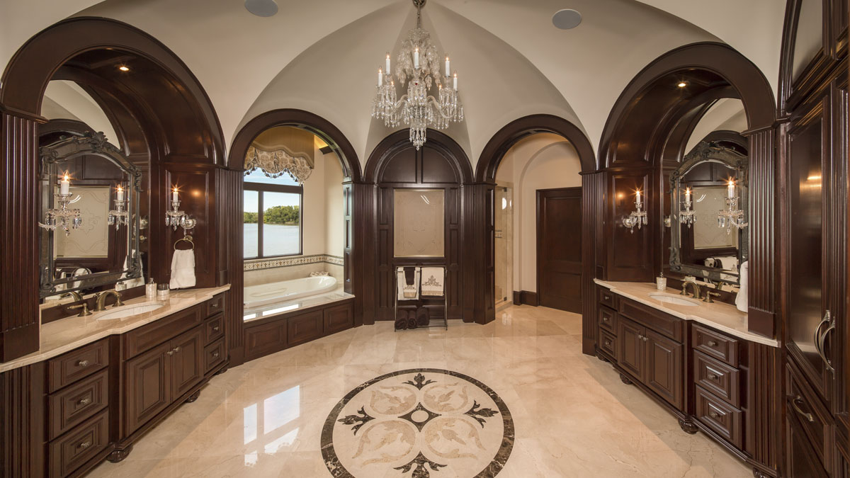 lakeside luxe powder room