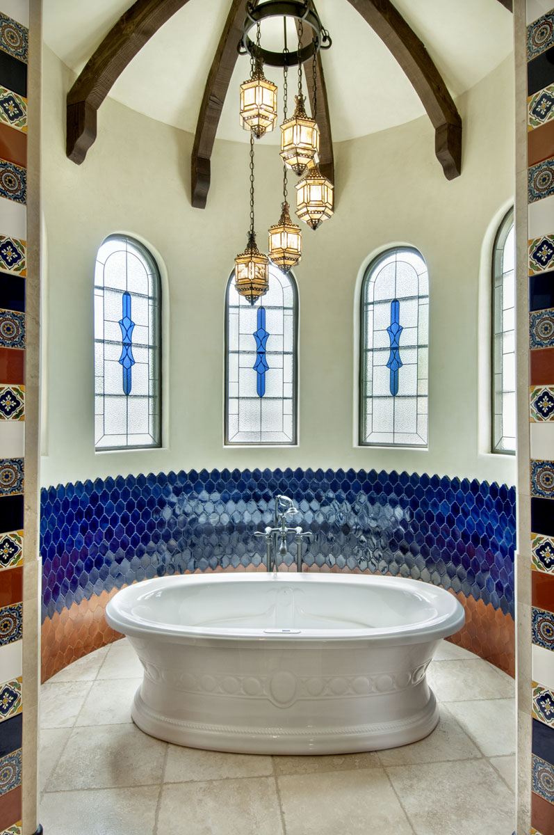 spanish mediterranean custom tub