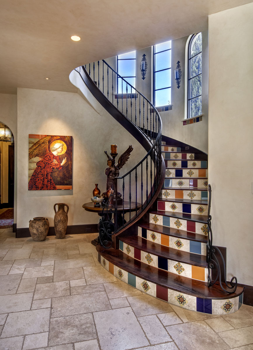 spanish mediterranean custom staircase