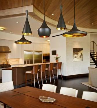lakefront modern dining room
