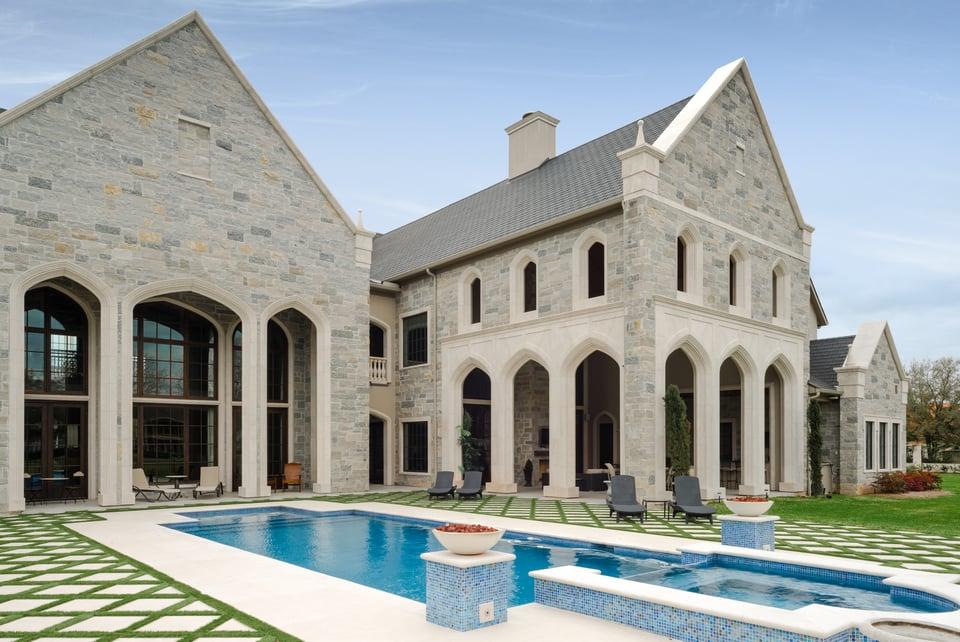 cast stone home exterior