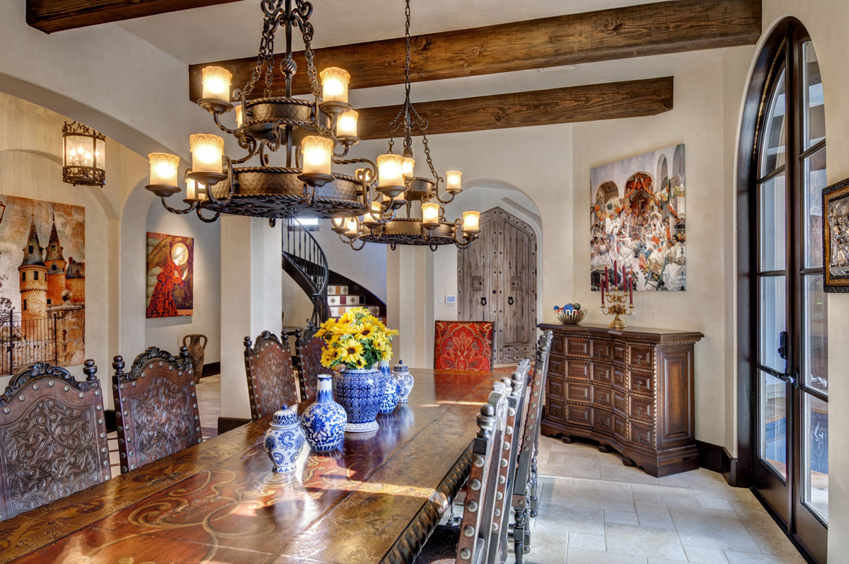 spanish mediterranean dining room