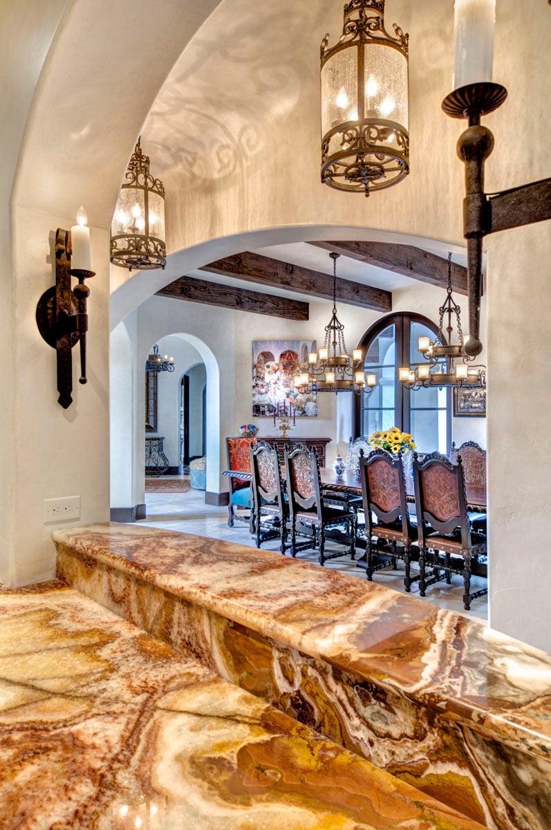 spanish mediterranean marble flooring