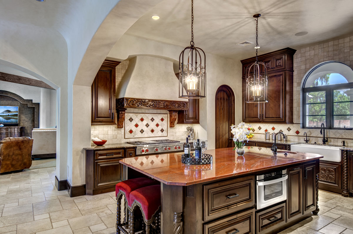 spanish mediterranean custom kitchen