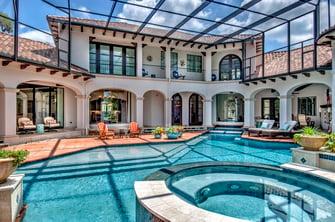 spanish mediterranean covered pool