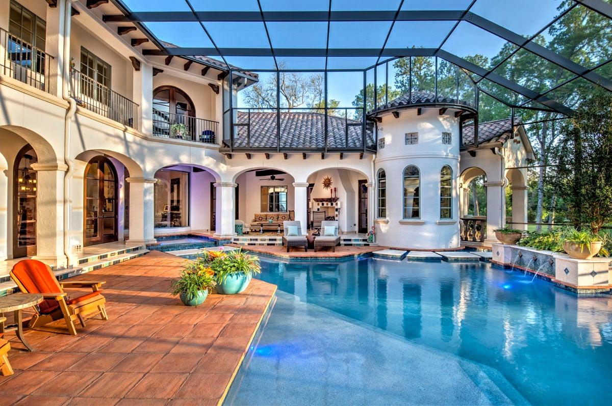 spanish mediterranean custom indoor pool
