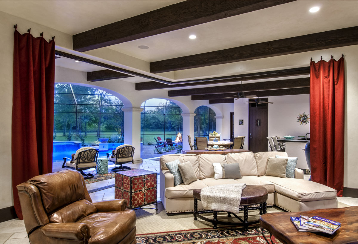 spanish mediterranean living room