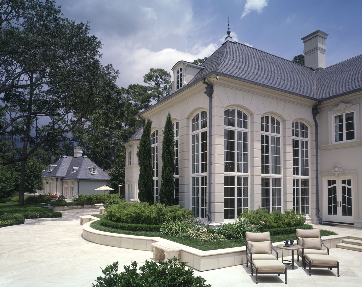 french chateau back exterior view