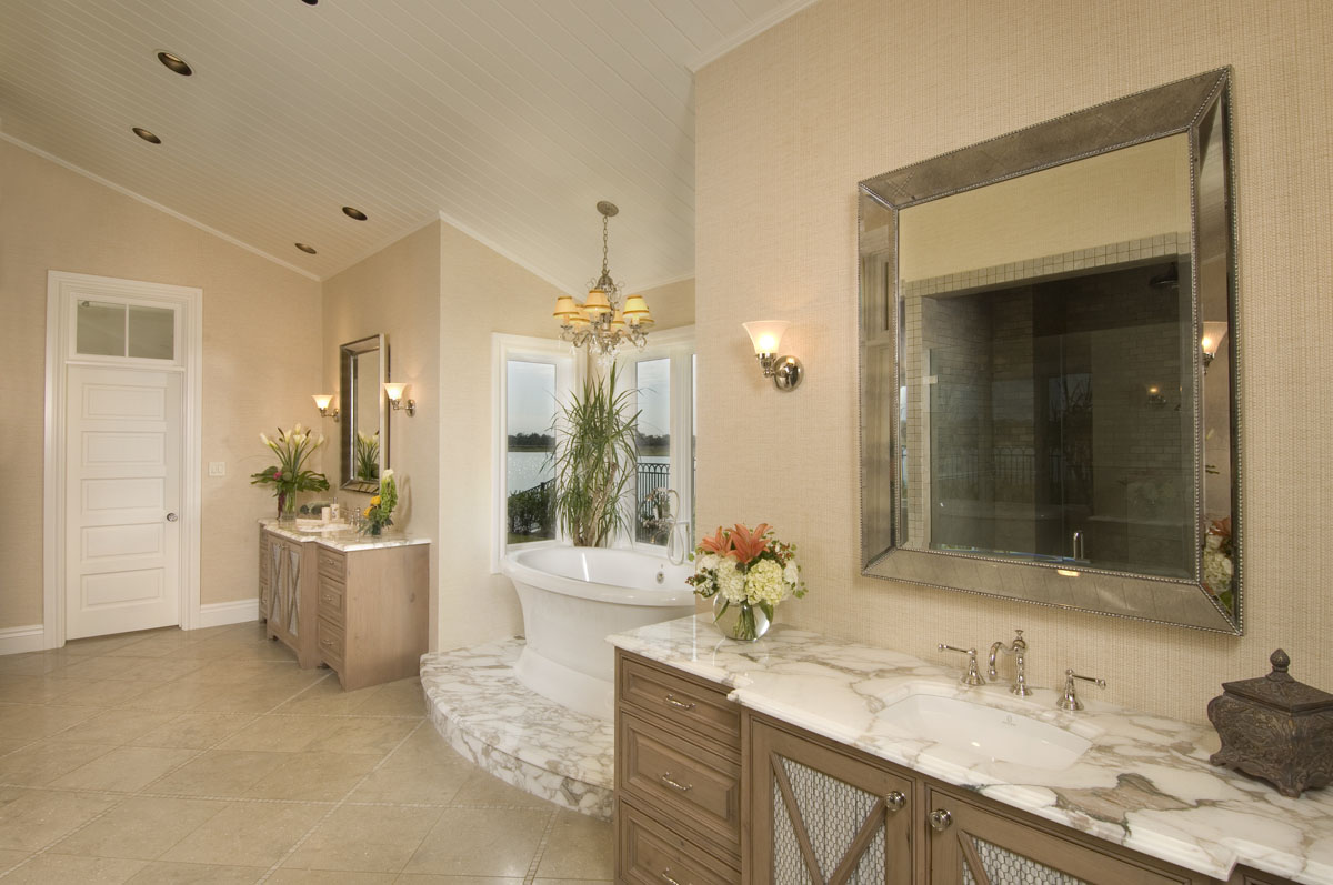 custom louisiana acadian bathroom