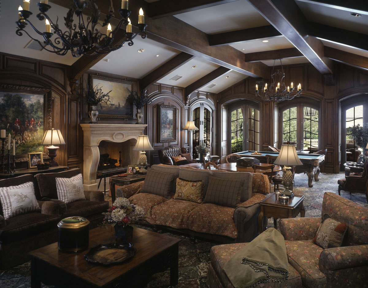 french chateau billiard room