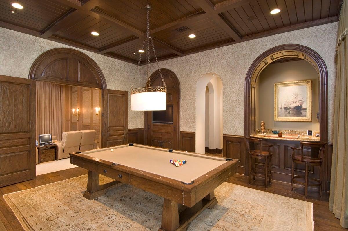 custom classic mediterranean game room