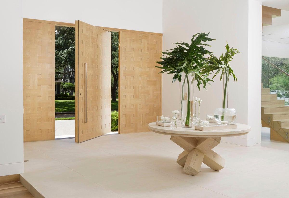 custom tanglewood modern foyer doors