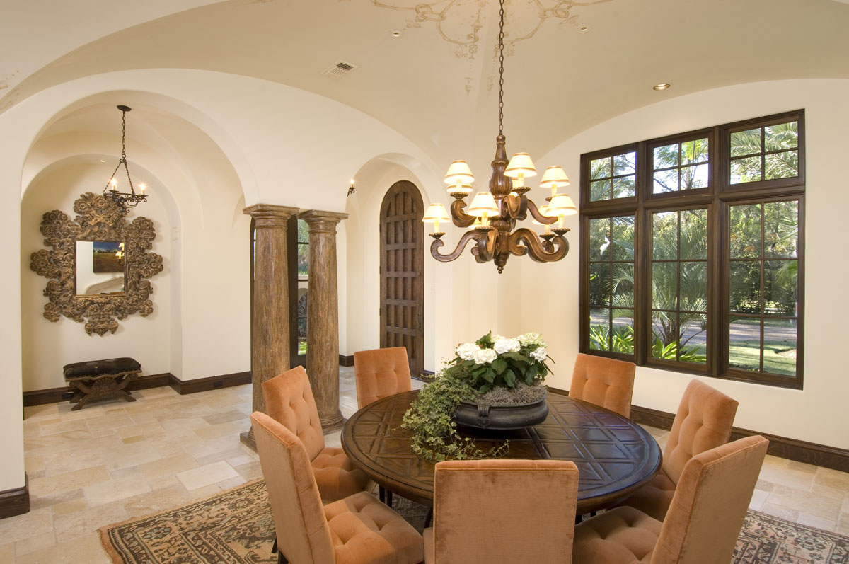 spanish colonial dining entry way