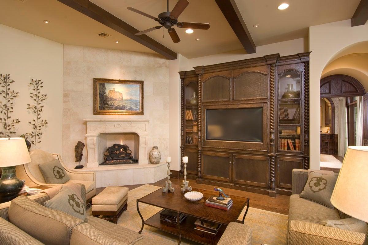 custom classic mediterranean family room