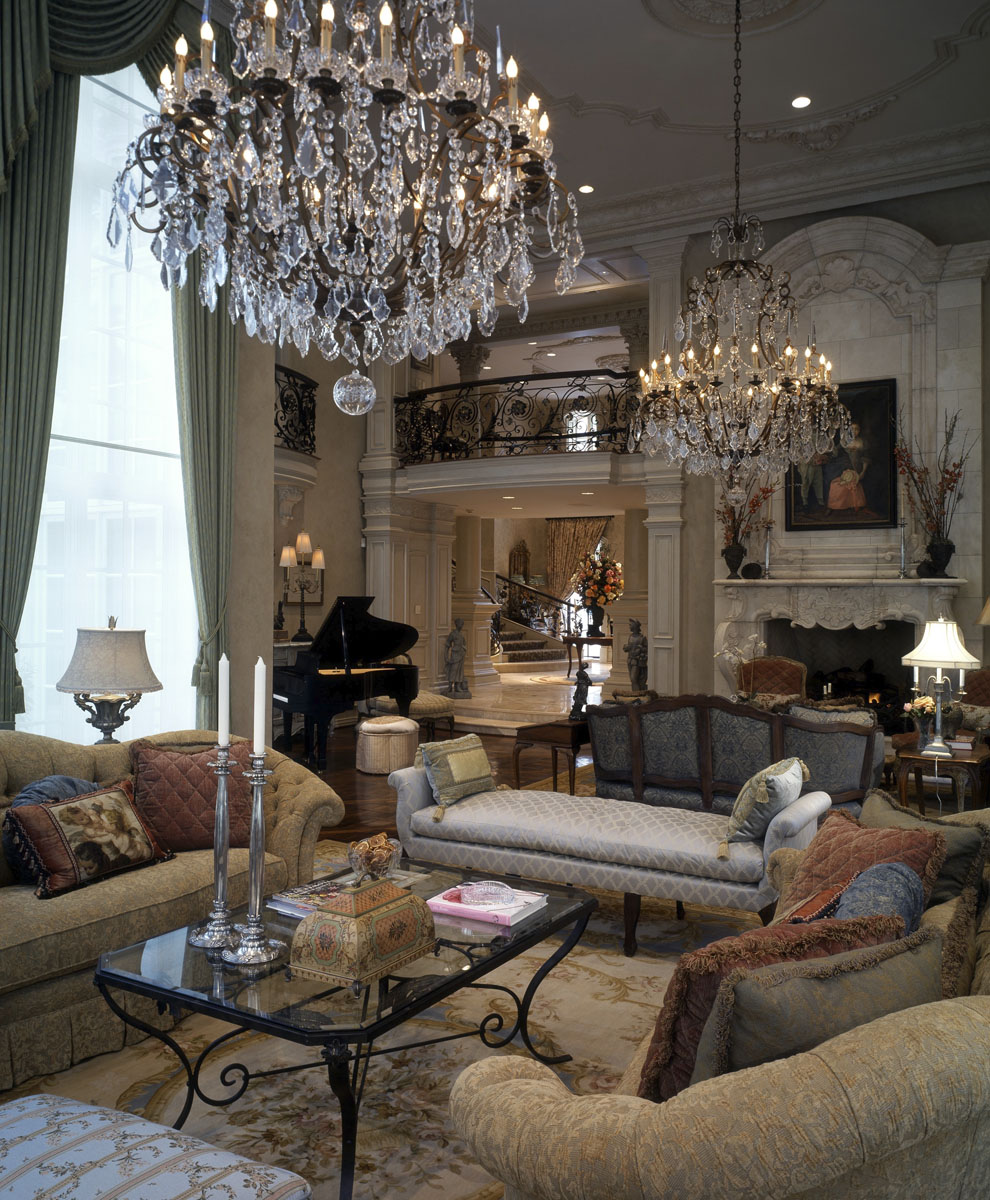 french chateau formal living room