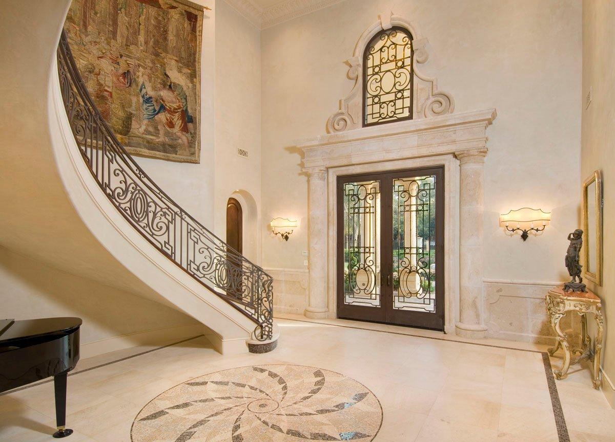 custom classic mediterranean foyer