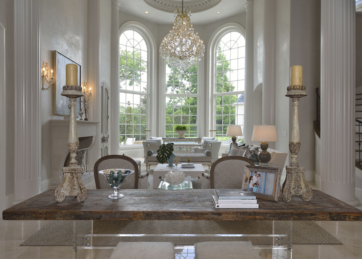 french manor living room