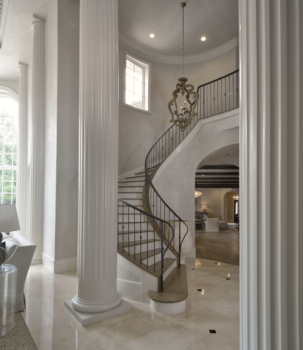 french manor stairwell