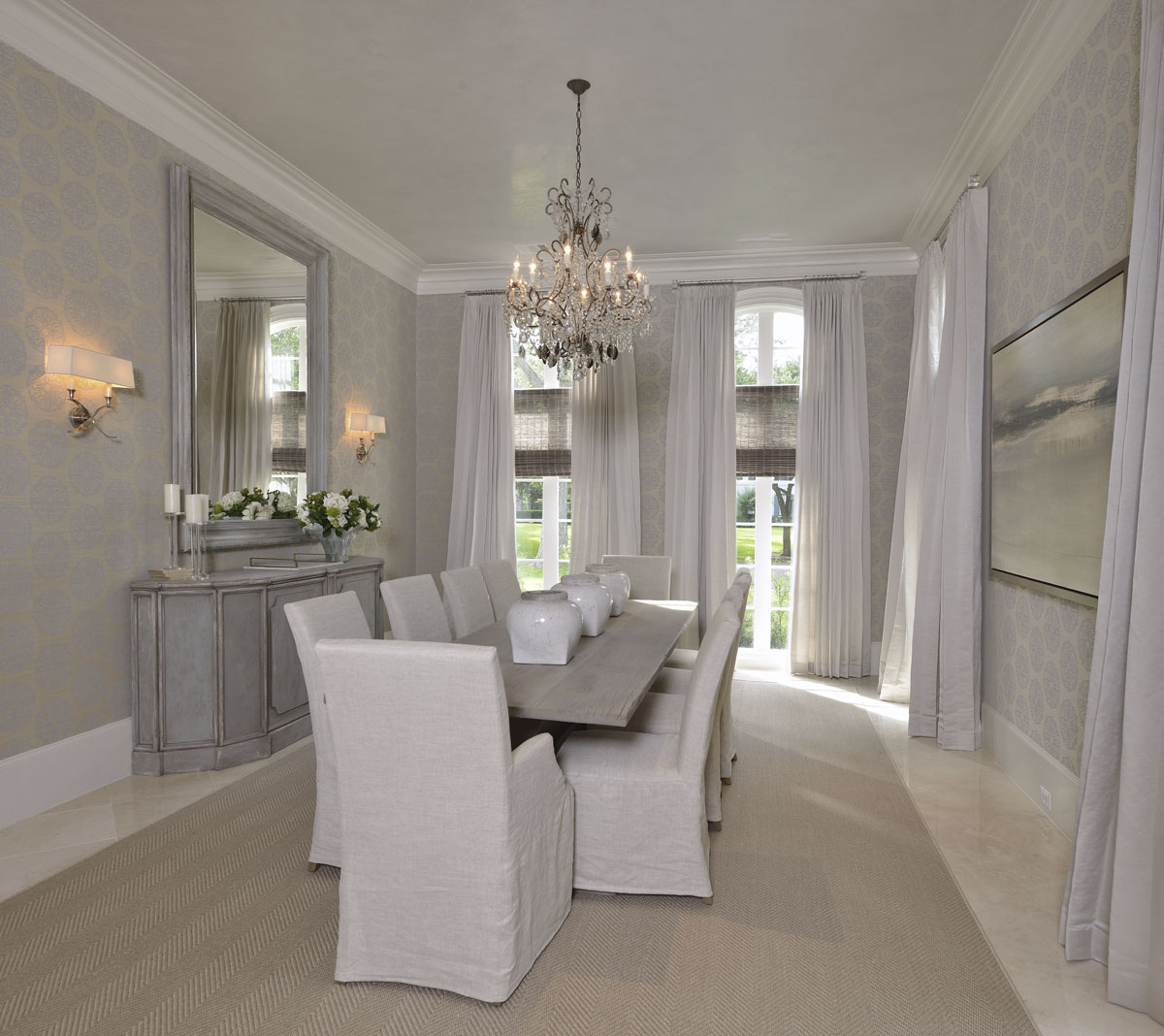 french manor dining room