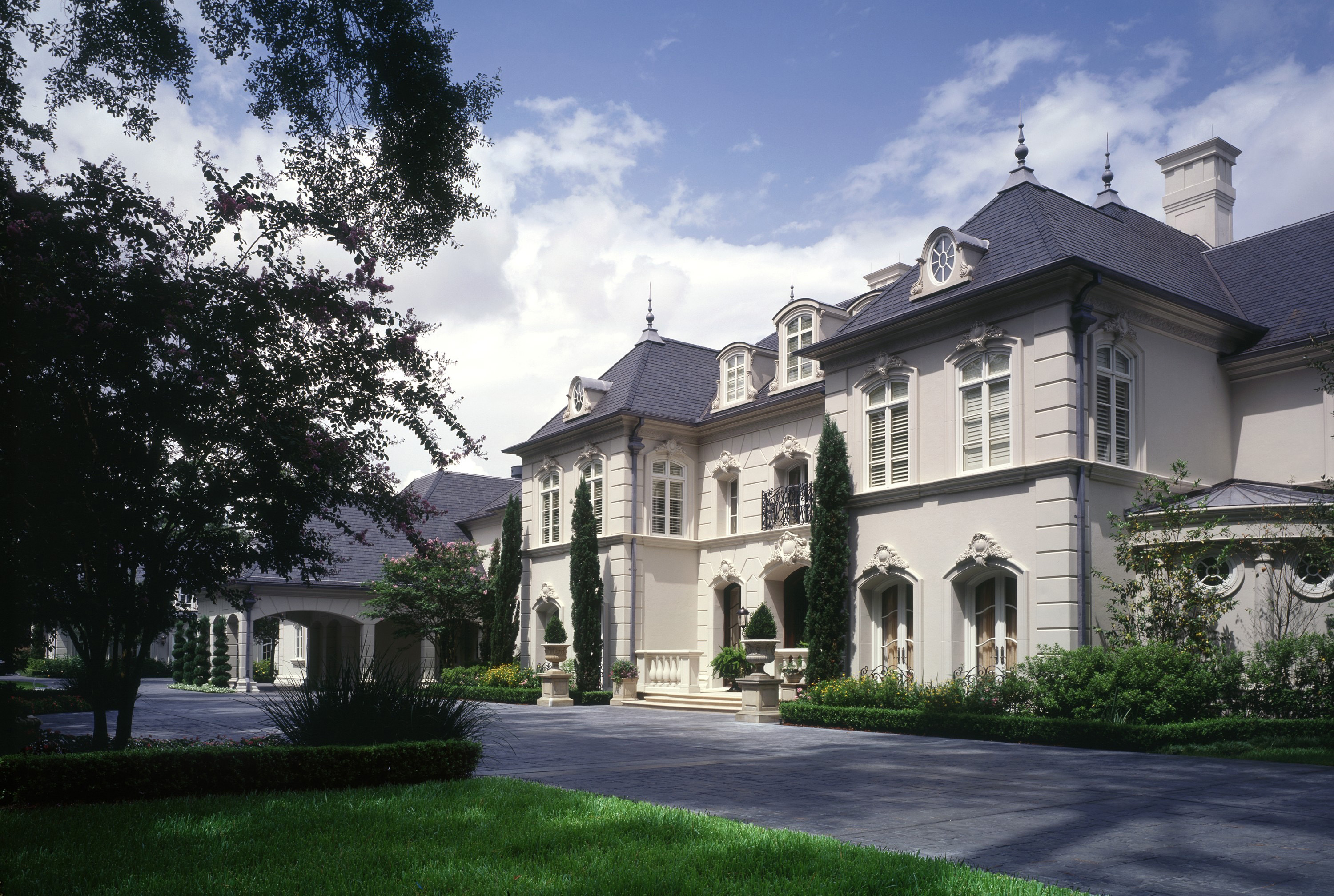 custom built french chateau