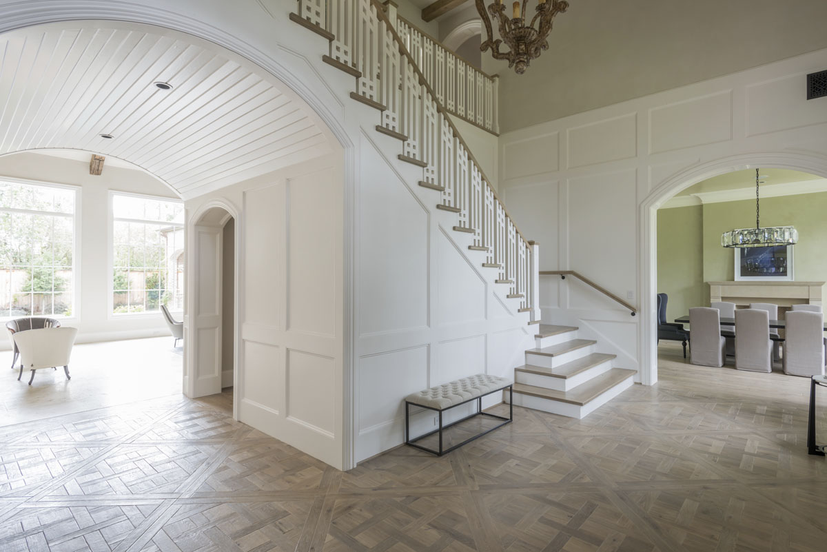 custom english country staircase