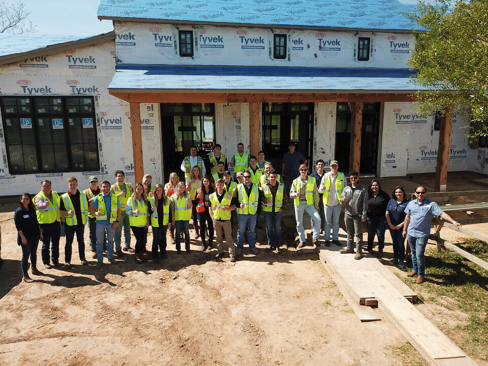 Texas A&M construction science field trip