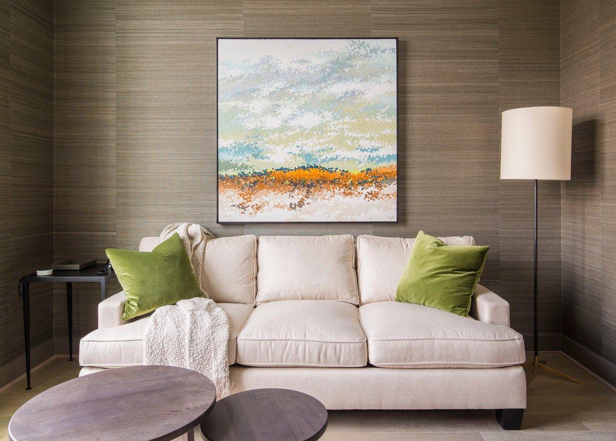 custom modern condo living room