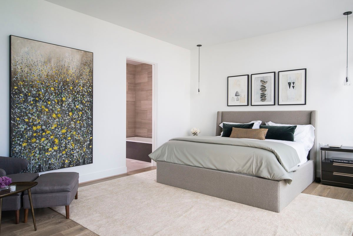 custom modern condo bedroom