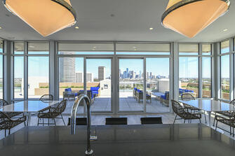 warm modern custom condo window view