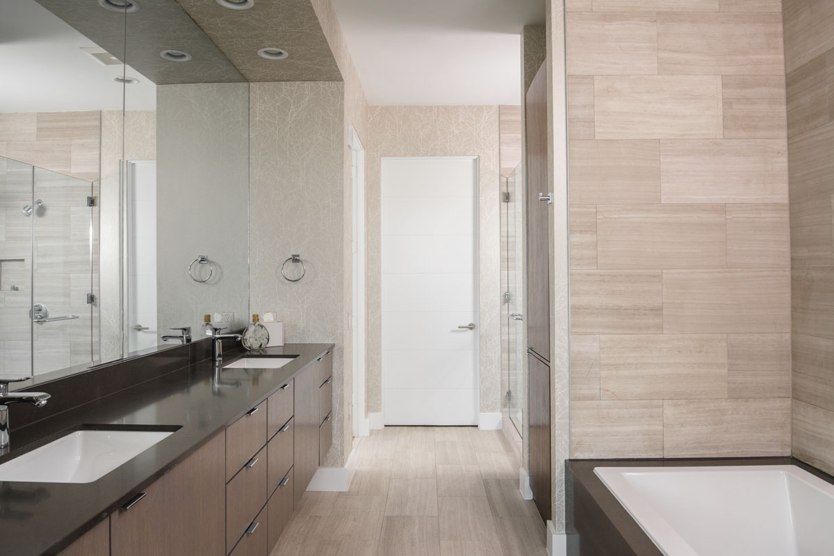 custom modern condo bathroom