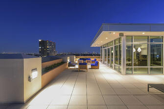 condo transitional custom roof patio