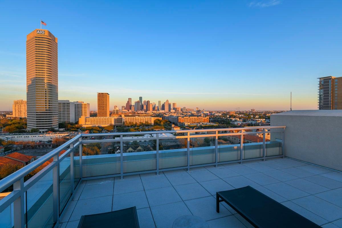 custom modern condo rooftop patio