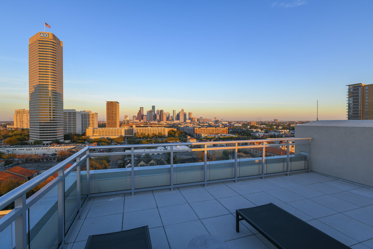custom modern condo rooftop patio