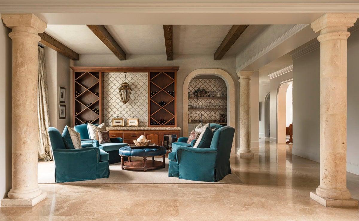 tudor living room style