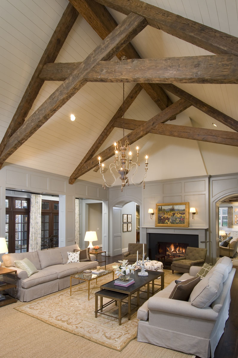 french normandy living room