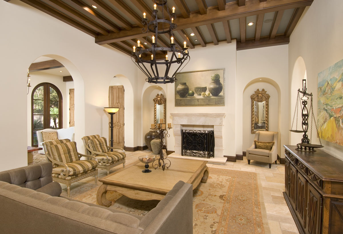 spanish colonial living room