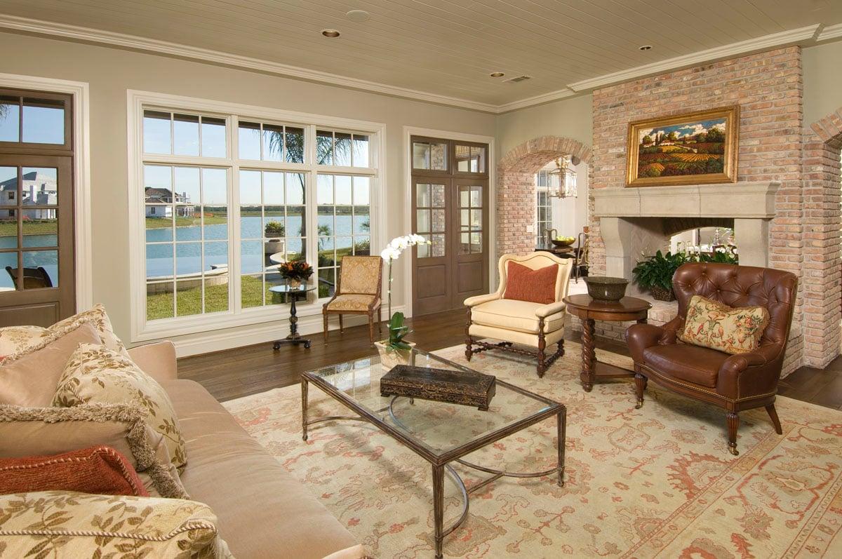 custom louisiana acadian living room