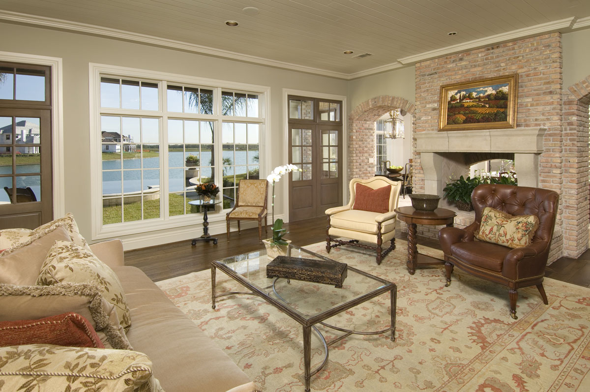 custom louisiana acadian living room