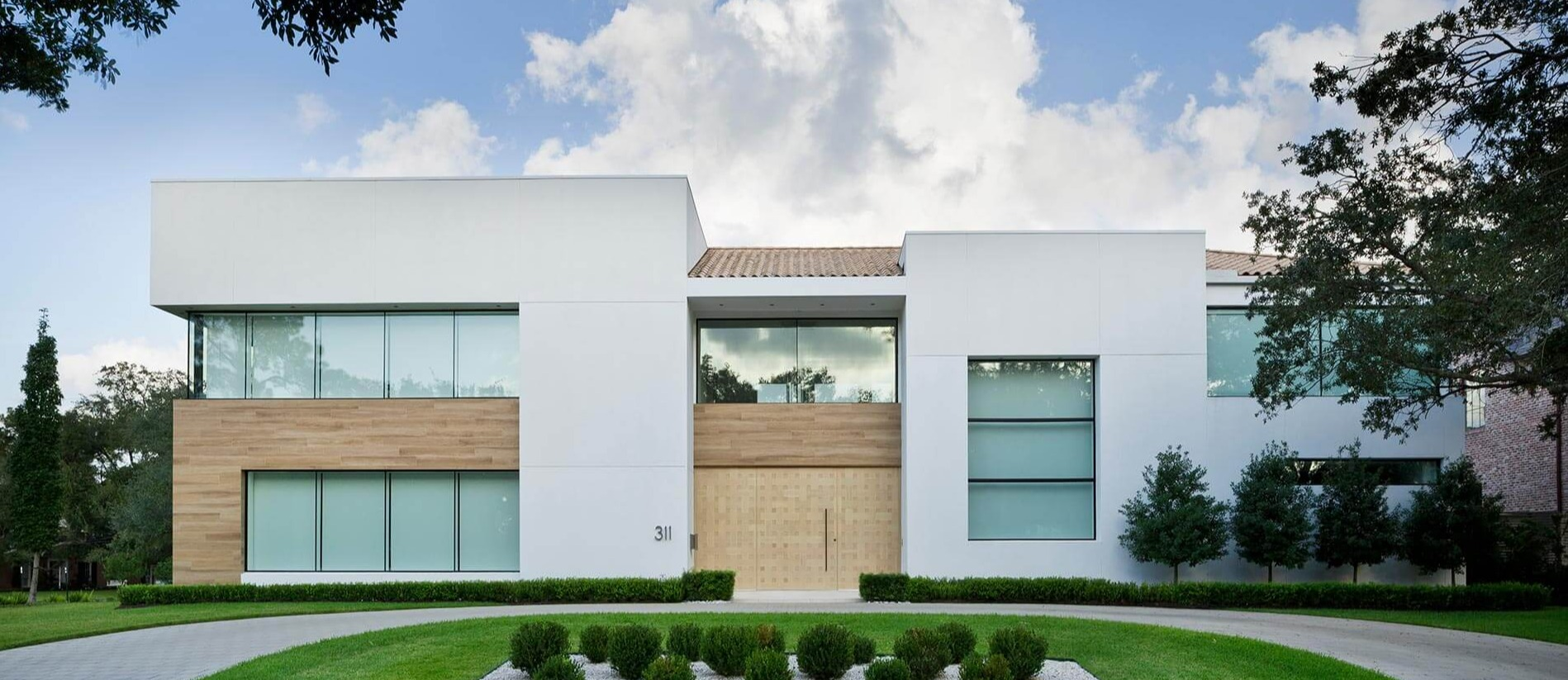 modern custom built house Houston