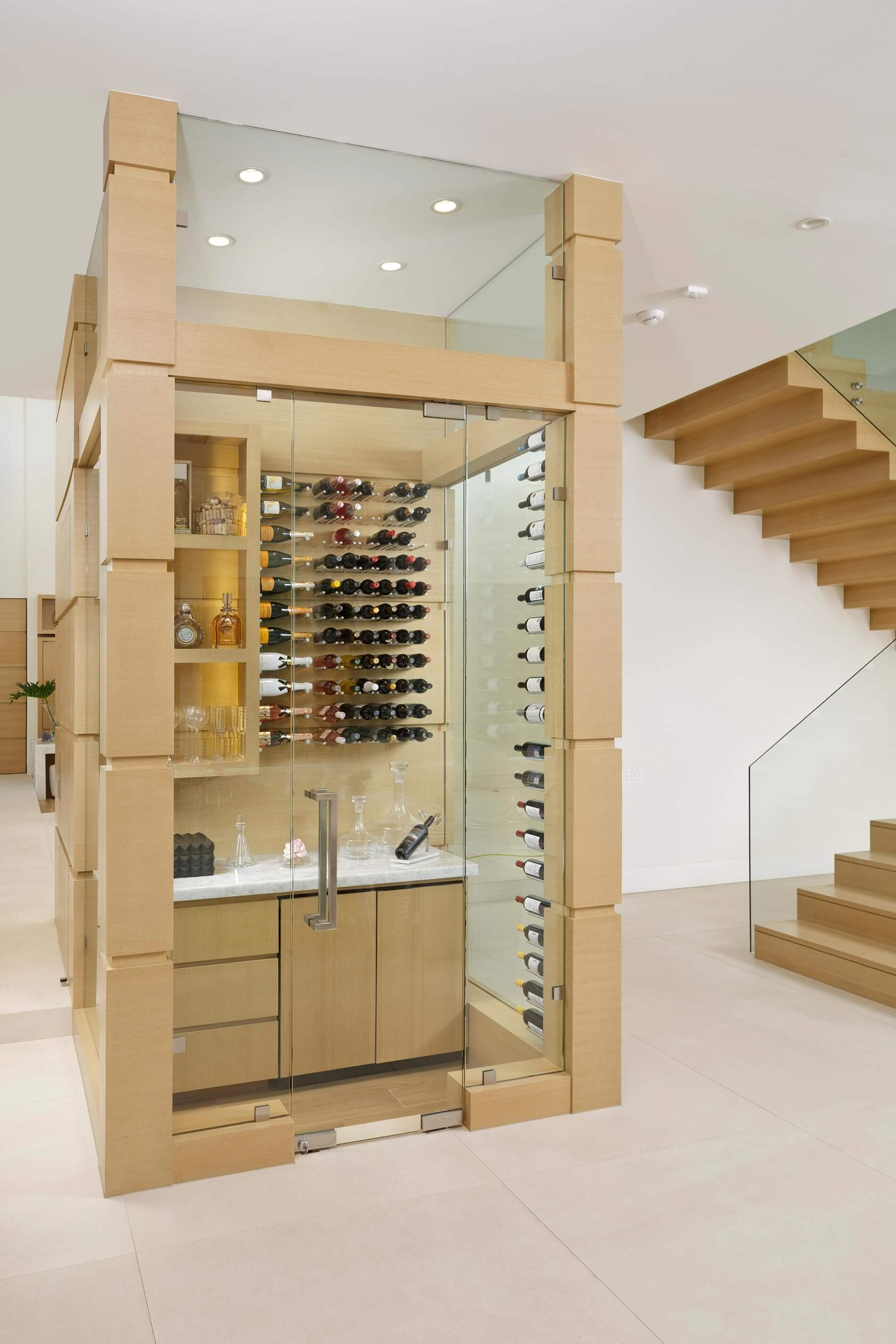 custom wine room modern home