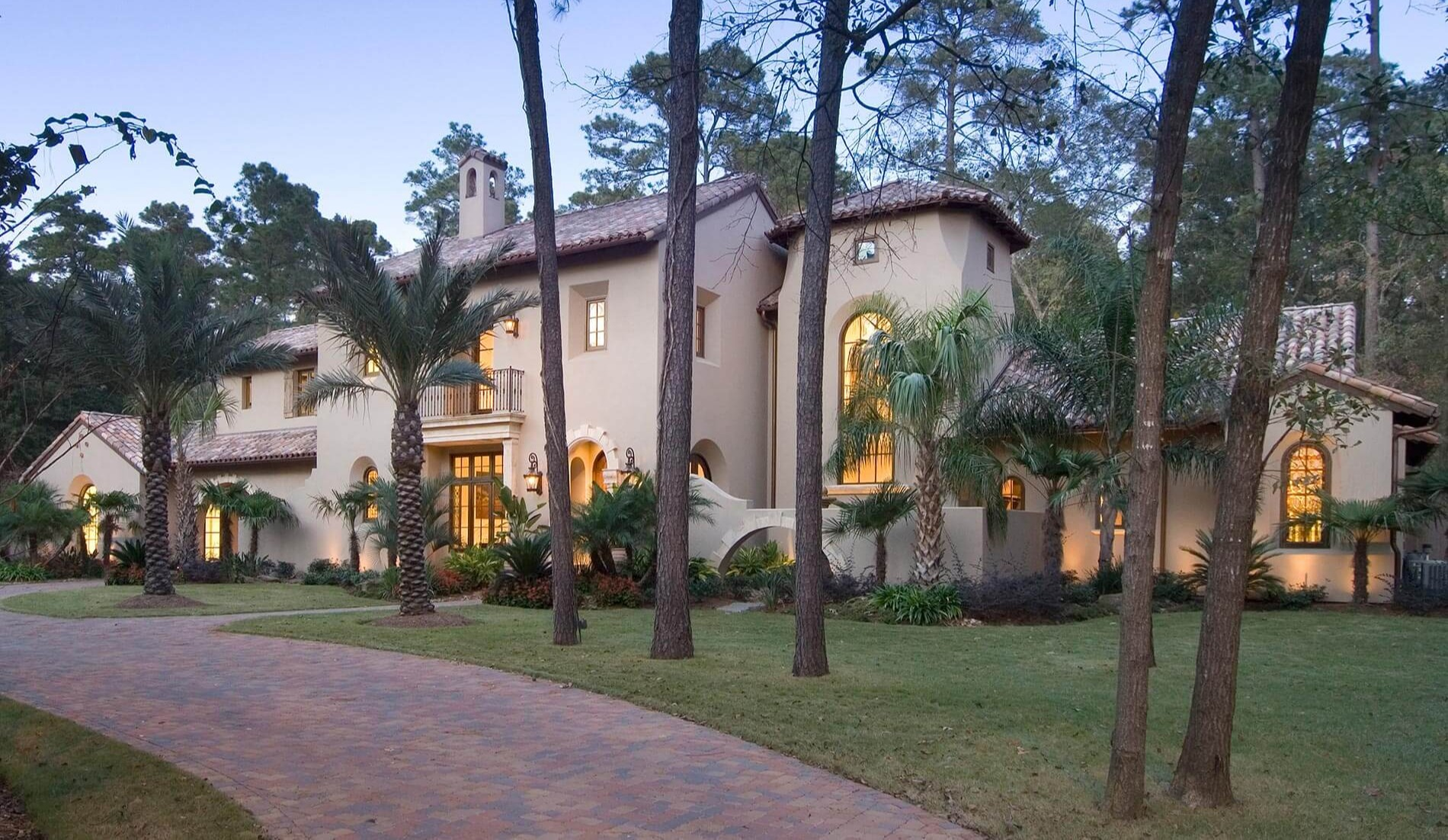 luxury custom built southern Spanish colonial