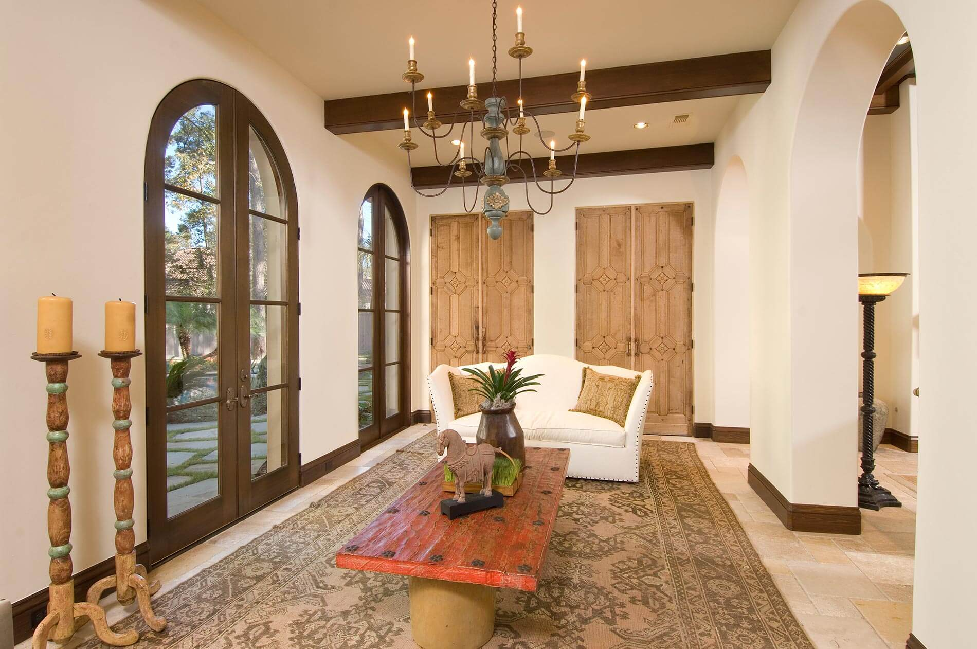 Sunroom spanish colonial room