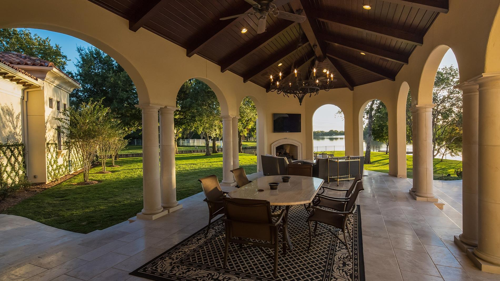 lakeside outdoor living