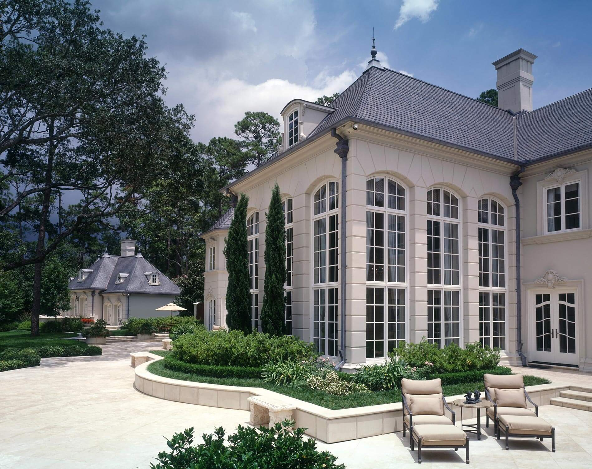 Back of french chateau