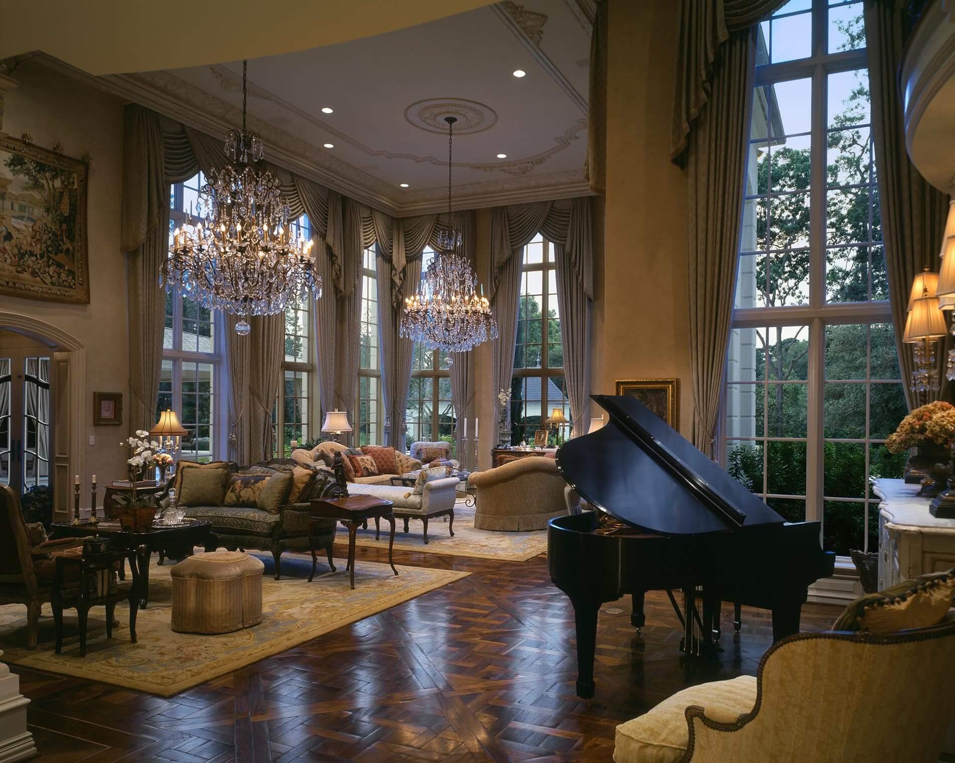 formal living room design houston