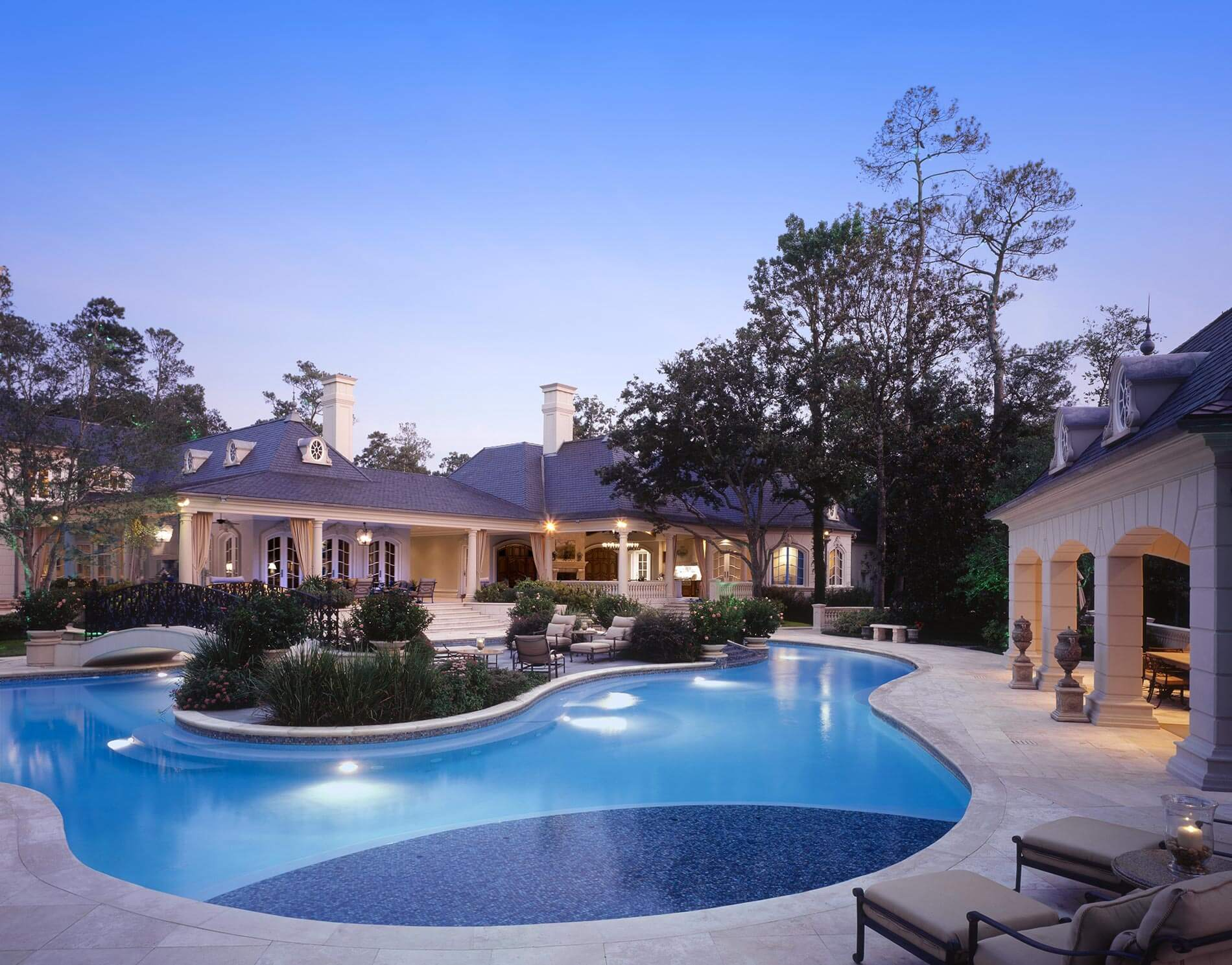 Pool at french chateau