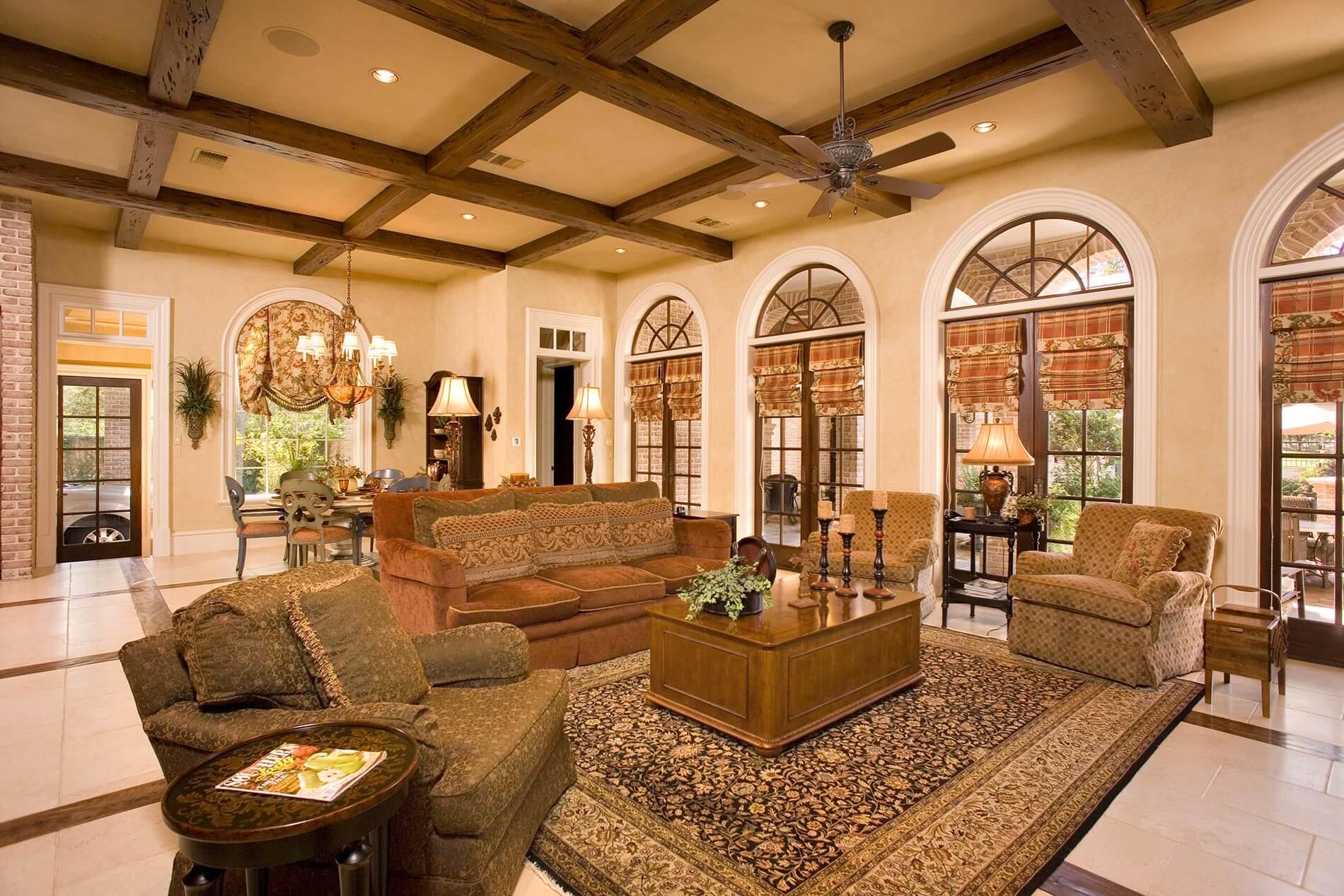 greek revival living room houston