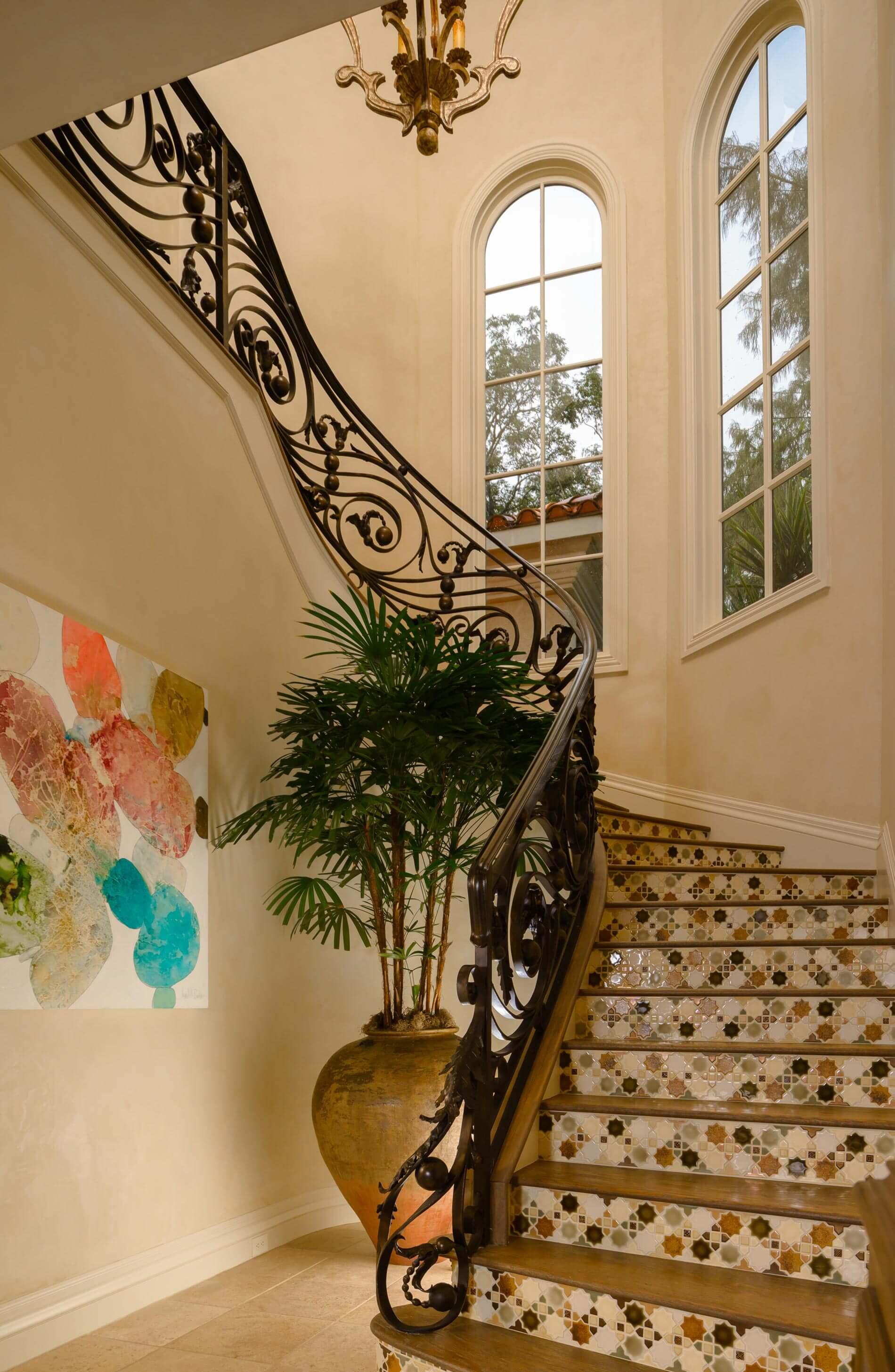 custom designed stairway